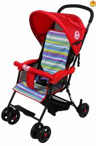 BAYBEE Shade- Baby Buggy Stroller Red Color