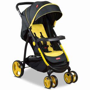 Fisher-Price Steel Explorer Stroller Cum Pram Yellow