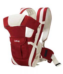 LuvLap Elegant Baby Carrier Red Color