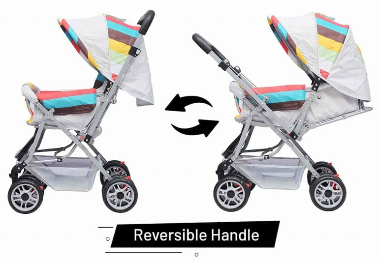 R for Rabbit Lollipop Lite Colorful Baby Stroller and Pram for Baby 0 to 3 Years-Rainbow Multi Color
