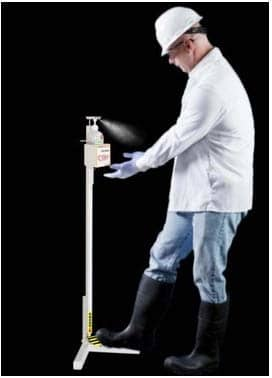 Touchfree Hand Sanitizer Dispenser Floor Stand